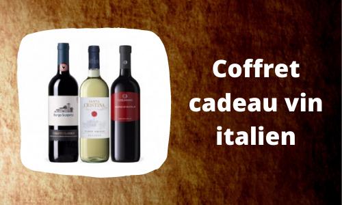 Coffret cadeau vin italien