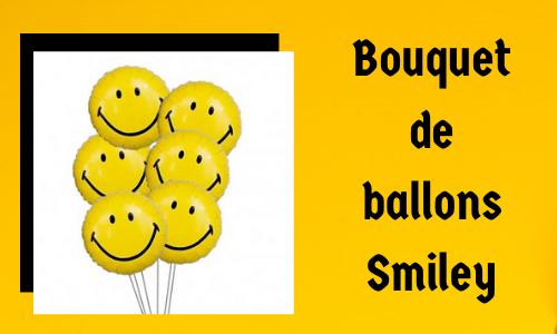 Bouquet de ballons Smiley