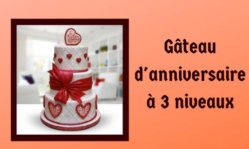 Gâteau d'anniversaire à 3 niveaux