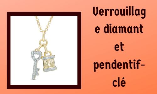 Verrouillage diamant et pendentif clé