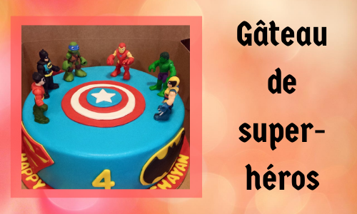 Gâteau de super-héros