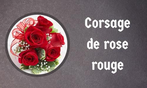 Corsage de rose rouge