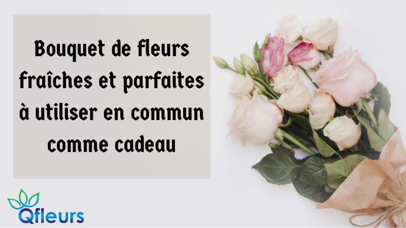 Bouquet de fleurs fraîches et parfaites à utiliser en commun comme cadeau