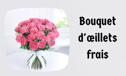 Bouquet d'œillets frais