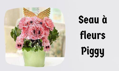 Seau à fleurs Piggy