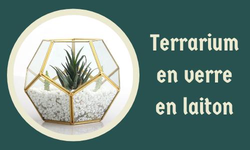 Terrarium en verre en laiton