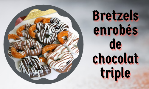 Bretzels enrobés de chocolat triple