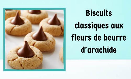 Biscuits classiques aux fleurs de beurre d'arachide