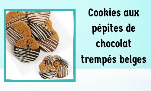 Cookies aux pépites de chocolat trempés belges