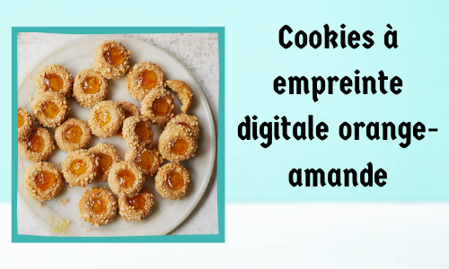 Cookies à empreinte digitale orange-amande