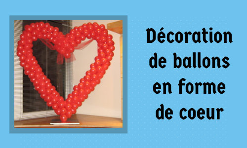 Décoration de ballons en forme de coeur