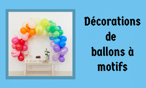 Décorations de ballons à motifs