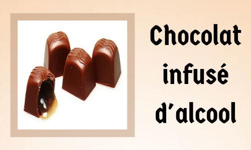 Chocolat infusé d'alcool