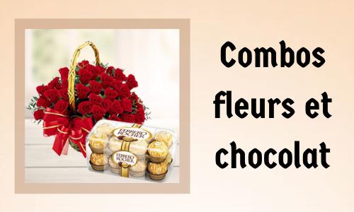 Combos fleurs et chocolat