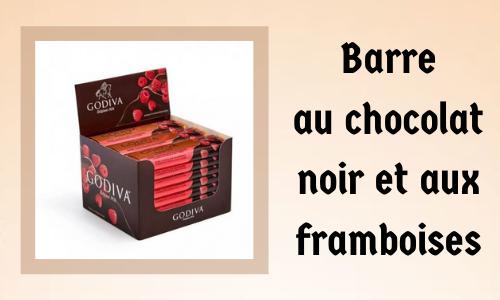 Barre au chocolat noir et aux framboises