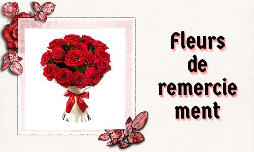 Fleurs de remerciement
