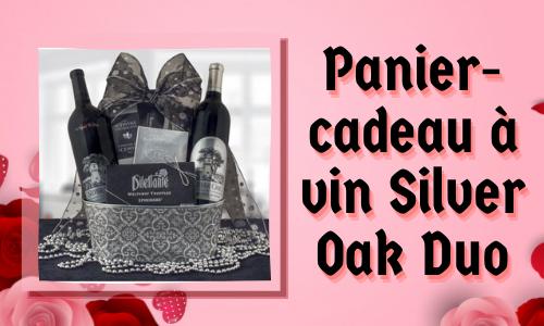 Panier-cadeau à vin Silver Oak Duo