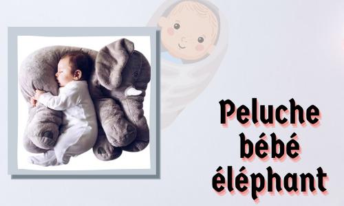 Peluche bébé éléphant