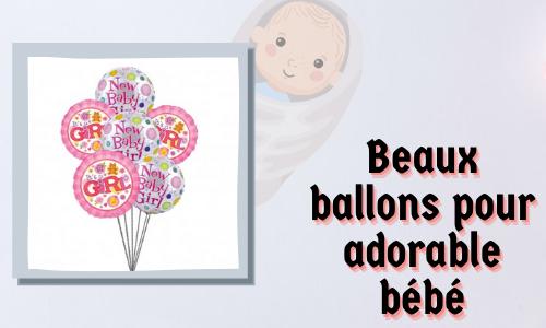 Beaux ballons pour adorable bébé