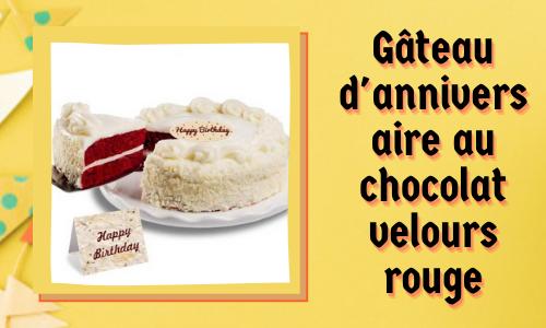 Gâteau d'anniversaire au chocolat velours rouge