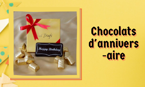 Chocolats d'anniversaire