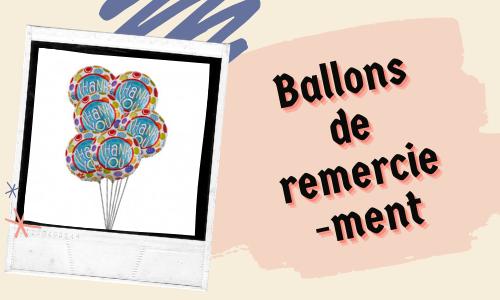 Ballons de remerciement