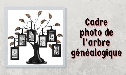 Cadre photo de l'arbre généalogique