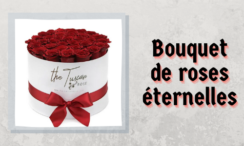 Bouquet de roses éternelles