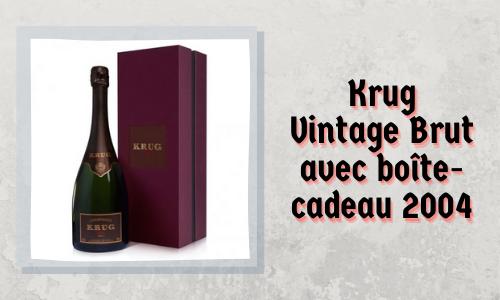 Krug Vintage Brut avec boîte-cadeau 2004