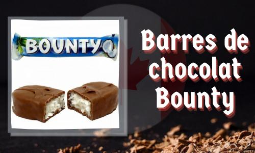 Barres de chocolat Bounty