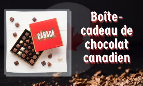 Boîte-cadeau de chocolat canadien