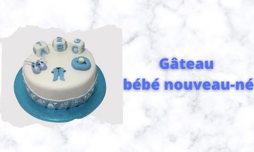 Gâteau bébé nouveau-né
