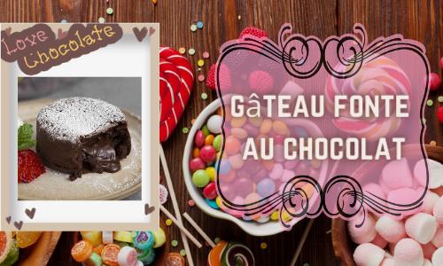 gâteau fonte au chocolat