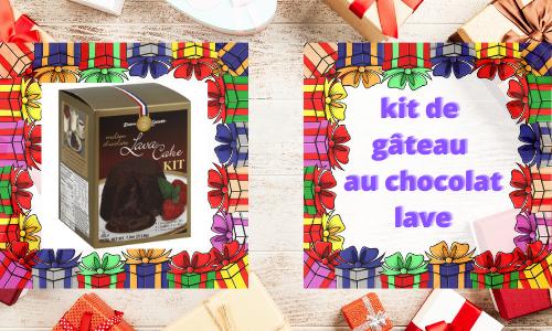 kit de gâteau au chocolat lave