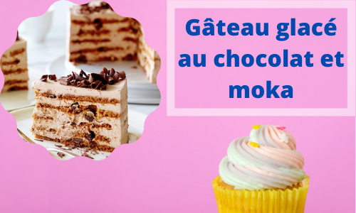 Gâteau glacé au chocolat et moka
