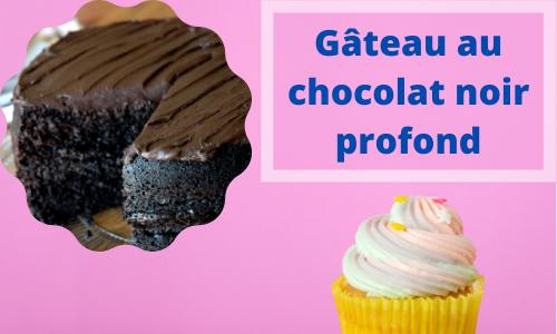 Gâteau au chocolat noir profond