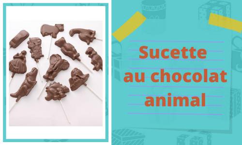 Sucette au chocolat animal
