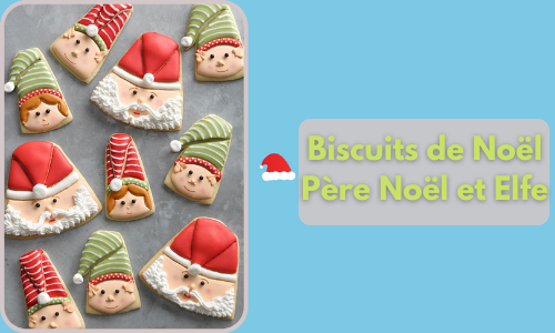 Biscuits de Noël Père Noël et Elfe