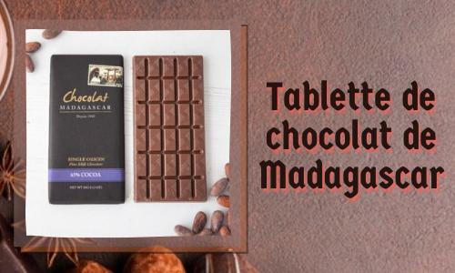 Tablette de chocolat de Madagascar