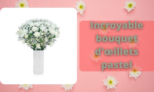 Incroyable bouquet d'œillets pastel