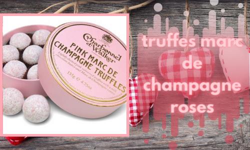 truffes marc de champagne roses