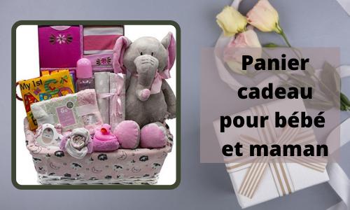 Panier-cadeau pour bébé et maman
