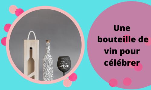 Une bouteille de vin pour célébrer