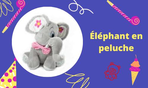 Éléphant en peluche