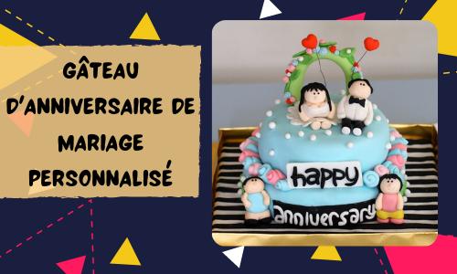 Gâteau d'anniversaire de mariage personnalisé