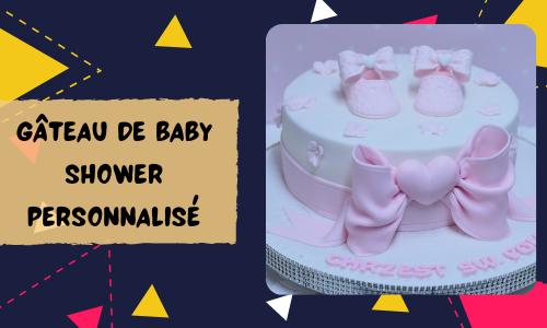 Gâteau de baby shower personnalisé
