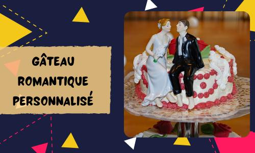 Gâteau romantique personnalisé
