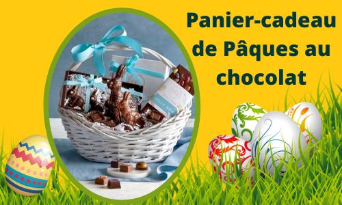 Chocolat Célébrer le panier-cadeau de Pâques