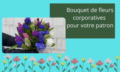 Bouquet de fleurs corporatives pour votre patron