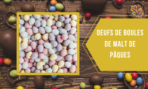 Oeufs de boules de malt de Pâques